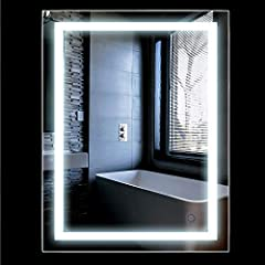 Idea Regalo - Specchio Luce LED con Illuminazione Interruttore per il Bagno Camera da Letto 2 Dimensioni (500x700mm)
