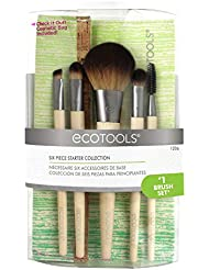 EcoTools BAMBOO 6-pc Makeup Brush Set - 6 tlg. Make up Pinsel Set mit Tasche - Öko freundlich - aus USA
