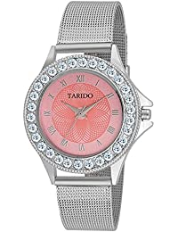 Tarido New Style Pink Dial Analog Watch For Women