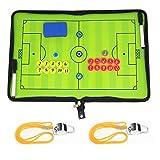BizoeRade cartella tattica per allenatore di calcio con Fischio,calcio tattica fogli con Fischio,penne, gomma, magneti,Spazzola