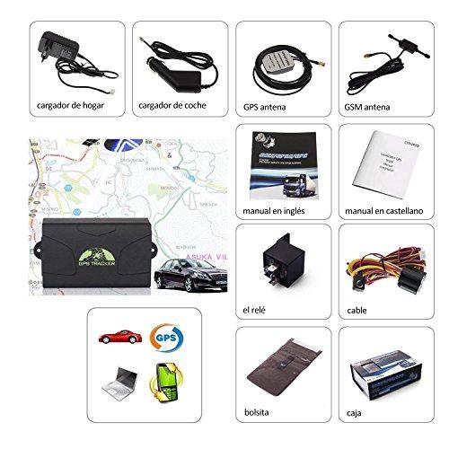 CITTATREND-Localizador GPS Tracker Mejorado Seguidor para Automóvil Coche Vehículo Ciclismo Moto Camión Anti-robo 6000 mAh TK104