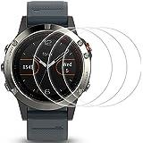 Films de Protection d'Ecran pour Garmin Fenix 5 Montre Connectée, AFUNTA 3 Paquets de Protecteur de Smartwatch en Verre Trempé Optique