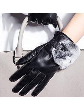 QKR&bellissimi guanti vera pelle guanti Femmina guanti modelli autunno e l'inverno touch screen montone guanti...