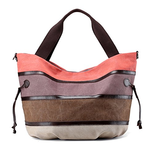 Ladies singola borsa a tracolla,borsa di tela,portatile/messenger bag-porpora arancione