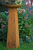 Pflanzschale / Pflanzsäule mit Säule Roheisen / Rost H: 124cm - Schalenständer