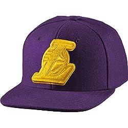 adidas NBA SBC Lakers - Gorra unisex, color morado / amarillo, talla OSFW