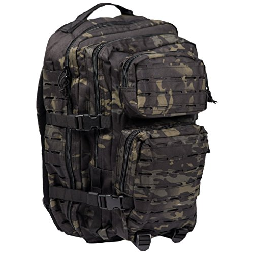 7c04012a39c Mil-Tec Zaino Militare Tattico LASER CUT MOLLE US Assault - LARGE - camo  MULTITARN