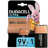 Duracell Ultra 9 V con Powercheck, Batteria Alcalina, Confezione da 1, 1.5 volt 6LR61 MX1604Ottimale per Rilevatore di Fumo (il Design della Confezione Potrebbe Variare)