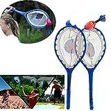 happy event_Sport im Freien Ballspiel | Tennis Ball Fangen | Wurf und Fangreaktionstraining | Netzschläger + Wurfball | Tennis Catching Ball of Throw and Catch Reaction Training