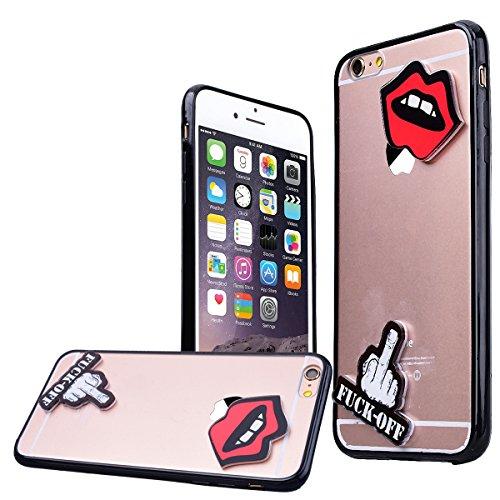 """WE LOVE CASE iPhone 6 / 6s Hülle Macaron iPhone 6 / 6s 4,7"""" Hülle Transparent Kristall klar Durchsichtig Schutzhülle Handyhülle Handytasche Handycover PC Harte Case Anti-Scratch Handy Tasche Schale Sc Lips"""