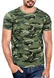 #9: WYO Men's Cotton Camouflage Half Sleeve T-Shirt