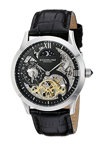 stuhrling-original-classic-winchester-tempest-ii-mens-automatic-watch-with-black-dial-analogue-displ