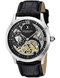 Stührling Original 571.33151 - Reloj analógico para hombre, correa de cuero, color negro