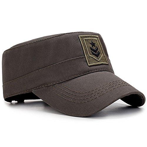 Yooeen Military Army Cap Herren Vintage Militär Mütze Verstellbar Armymütze Baumwolle Baseball Cap Kappe mit Gute Qualität Stickerei Kopfumfang 56-62 cm Us-baseball-kappen