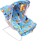 Ehomekart Funride Kid'S Blue Carry Cot Cum Bouncer 9 In 1 With Bottle Holder (Print May Vary)