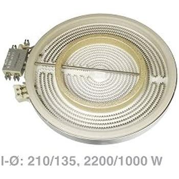 Original Zweikreis Heizkörper HiLight Kochfeld Ø225//170mm Siemens 00494747