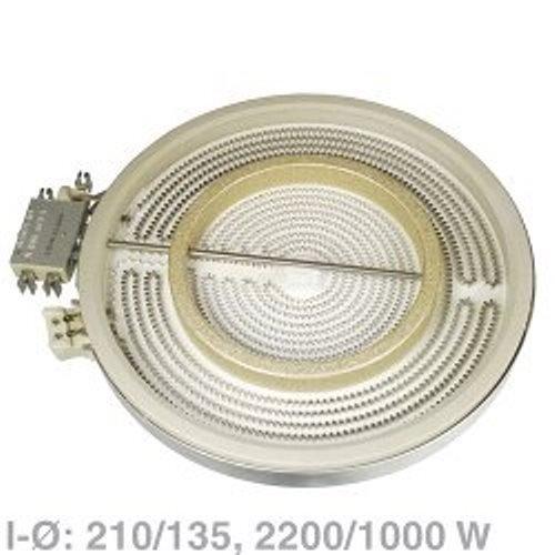 Heizkörper 210/135 mm Ø HiLight 2200 1000 Watt 230 Volt EGO 10.51213.432 1051213432