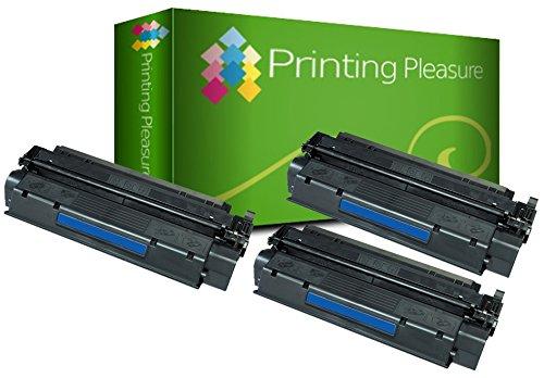 Printing Pleasure 3 Toner kompatibel für HP Laserjet 1000 1005 1200 1220 1300 3080 3300 3310 3320 3330 3380 Canon LBP-1210 LBP-558 Serie | C7115A 15A Q2613A 13A EP-25 (Hp Laserjet 3330)