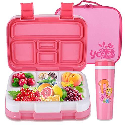 h-Boxen Kinder, Lunchbox Bento Box Set Brotdose mit 5 Unterteilungen, Isolierbeutel und Wasserflasche ()