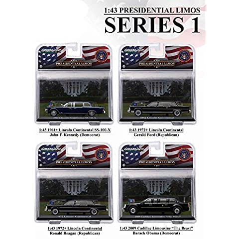 Presidential Limousine Series 1, 4pc set 1/43