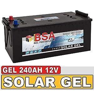 Gel Batterie 240Ah 12V Blei Gel Solarbatterie Wohnmobil Boot Versorgungsbatterie statt 210Ah 220Ah 230Ah