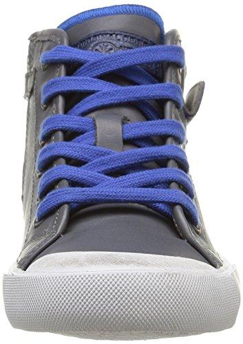 IKKS Karron, Sneakers Hautes garçon Gris (Vte Gris/Bleu Dtx/Vulca)