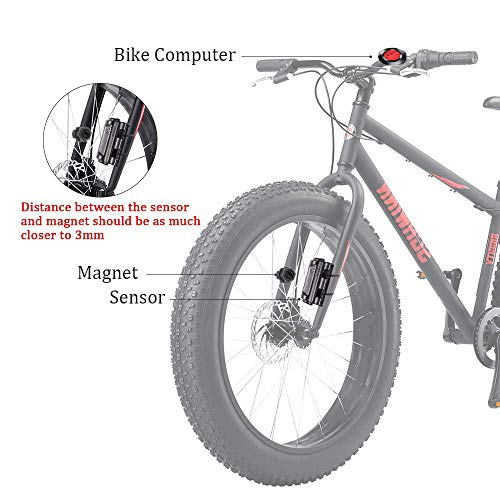 gotyou Runder Fahrrad Kilometerzähler Tachometer,Wasserdichter Fahrradcomputer, LCD-Hintergrundbeleuchtung,Geschwindigkeitsmessung Aufwecken und Multifunktionen,Geeignet zum Radfahren - 6