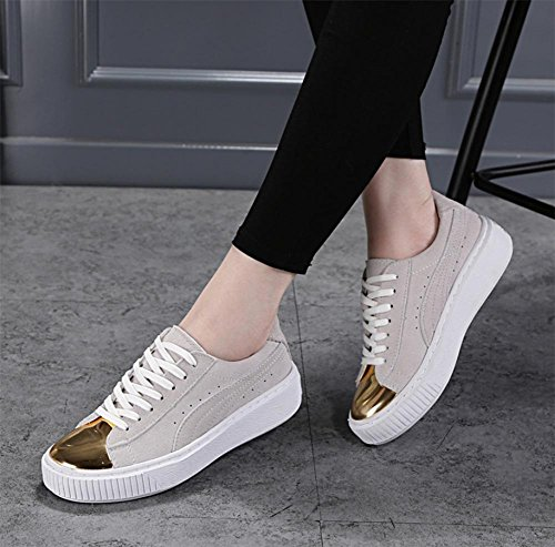 Muffin mit schwerer Boden Frauen sondert Schuh Frauen weibliche Schüler Sportschuhe atmungsaktive Schuhe Herbst Frau Aufzug Schuhe meters white