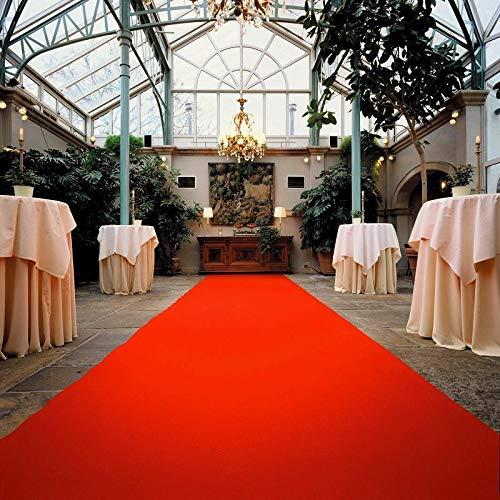 VIP Event-Teppich-Läufer, Hochzeitsläufer PODIUM - Rot, 1,50m x 6,00m, Hochzeitsteppich, Empfangsteppich, Eventteppich, Teppichboden für Messe & Event