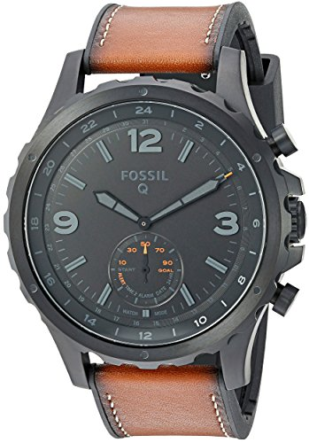 Fossil Q Nate Hybrid Brown Leather Smartwatch
