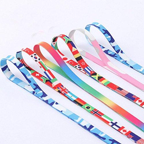 HCFKJ Flat Coloré Basket Chaussure Lacets Cordes Lacets Lacets Multicolore