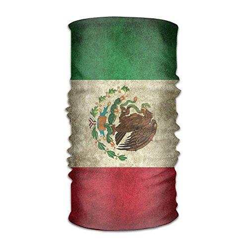 Vintage Striped Mexico Flag Headwrap Men Women Headwear Headband Neck Scarf Multifunction Hairband Magic Head Scarf Bandana Vintage Headdress Face Mask Neck Gaiter