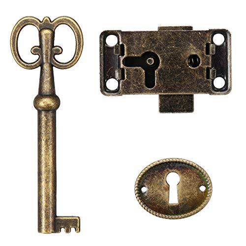 Desconocido Juego de Cerradura para Puerta de Armario, joyero Antiguo,