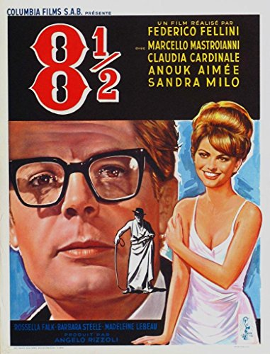 Federico Fellini 81/2Cool 1963Film Film Poster in Größen, Papier, A3 -