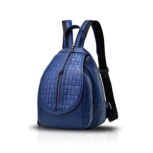 Sunas Lo zaino di corsa di tendenza dello zaino di Bessie del sacchetto di spalla dello zaino di Bessie del nuovo sacchetto di spalla delle signore di modo blu navy
