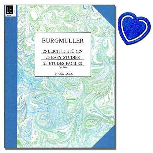 Frédéric Burgmüller: 25 leichte Etüden für Klavier op. 100 - mit Fingersatz versehen unter...