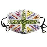 Kotdeqay Vegetable Flower Master Flag Printed Mouth Masks Unisex Anti-dust Masks Reusable Face Mask