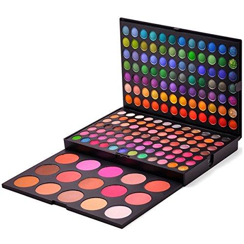 PhantomSky 183 Colores Sombra De Ojos Paleta de Maquillaje Cosmética con Corrector y Rubor - Perfecto para Uso Profesional y Diario