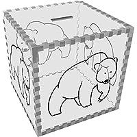 Preisvergleich für Azeeda Groß 'Bär' Klar Sparbüchse / Spardose (MB00071788)
