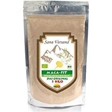 Maca 1 kg polvo puro de la raíz de maca organica, polvo de Maca original del Peru es fantástico para estimular los niveles de energía antes del ejercicio Maca andina natural alta en vitamina B1, B2, B6, calcio, hierro y zinc