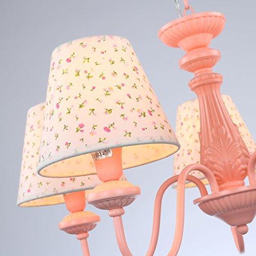 Global- Einfach Niedlich Kronleuchter Prinzessin Mädchen-Kind-Raum Schlafzimmer Arbeitszimmer Lampe Rosa Augen-Tuch-Beleuchtung -