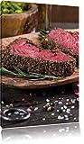 Leckeres Steak , Format: 60x80 auf hochkantiges Leinwand, XXL riesige Bilder fertig gerahmt mit Keilrahmen, Kunstdruck auf Wandbild mit Rahmen, günstiger als Gemälde oder Ölbild, kein Poster oder Plakat