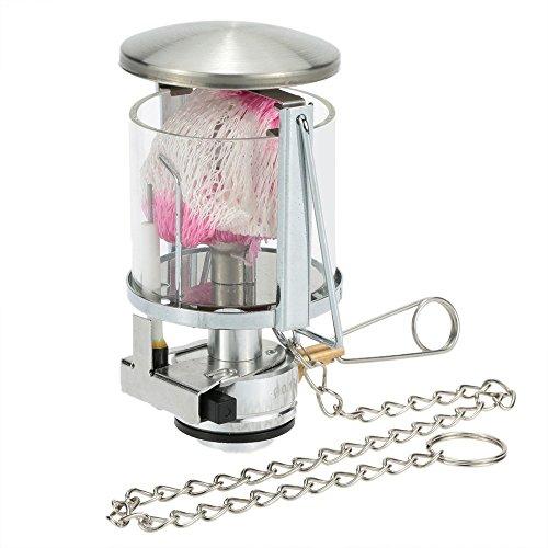 Docooler Tragbare Mini Camping Laterne Gas Licht Zelt Lampen Fackel hängende Glaslampe Schornstein mit Butan als Kraftstoff 60 LUX