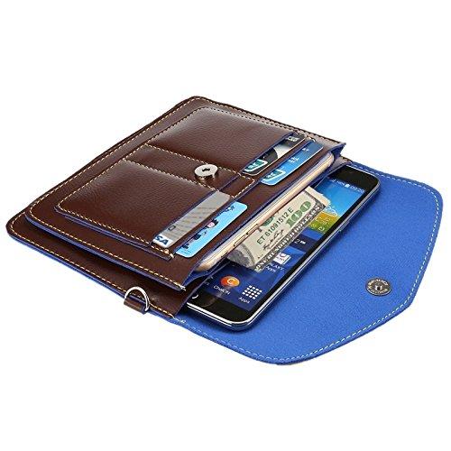 Wkae Case Cover 6,3 zentimeter universal modischen vertikale vier schichten multi - funktions - leder - umhängetasche mit card slots für das iphone 6 plus &65 plus, samsung galaxy 7 rand &anmerkung 5  braun