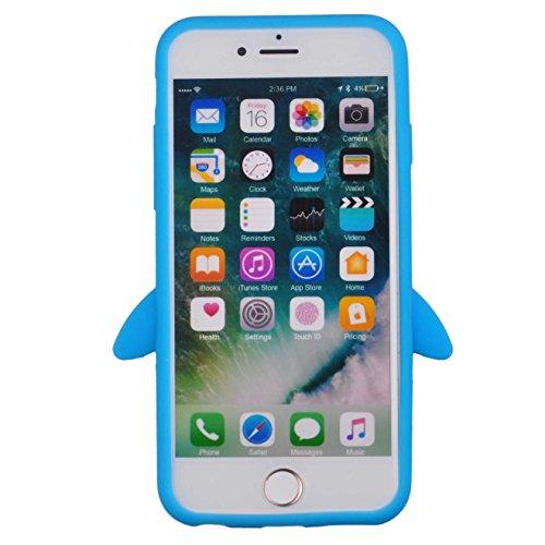 Voguecase® für Apple iPhone 7 Plus 5.5 hülle, Schutzhülle / Case / Cover / Hülle / TPU Gel Skin (Katzenbär Muster/Lila) + Gratis Universal Eingabestift Pinguine Muster/Blau