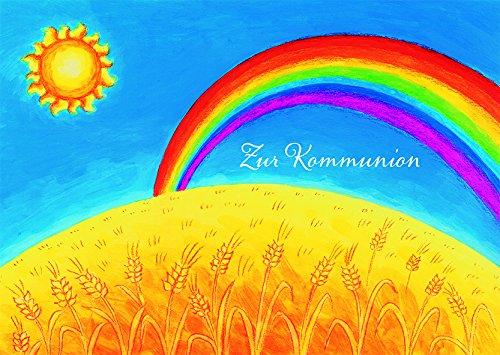 Kommunionkarte Regenbogen Zur Kommunion (6 Stck)