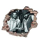 Bud Spencer - Bambino & Trinità (Der Kleine & Der müde Joe) - Terence Hill - Wandtattoo (50x70cm)