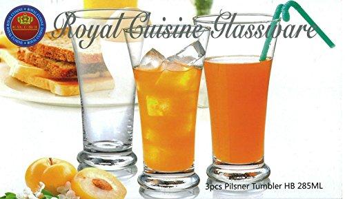 Royal Cuisine Set von 3Pilsner Brillen ideal Bier hohe Gläser