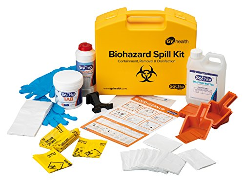 GV Health, Multi-Set für das Auslaufen von gefährlichen Substanzen und Körperflüssigkeiten–Set mit 10Stück