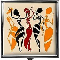 metALUm Pillendose/quadratisch / Modell Thorben/Afrika - Frauen im Ethno - Stil / 42010022 preisvergleich bei billige-tabletten.eu